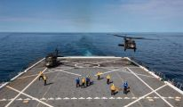 US Army Medevac Helicopters Training with US Navy